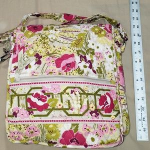 Vera Bradley Quited Floral Crossbody Messanger Bag